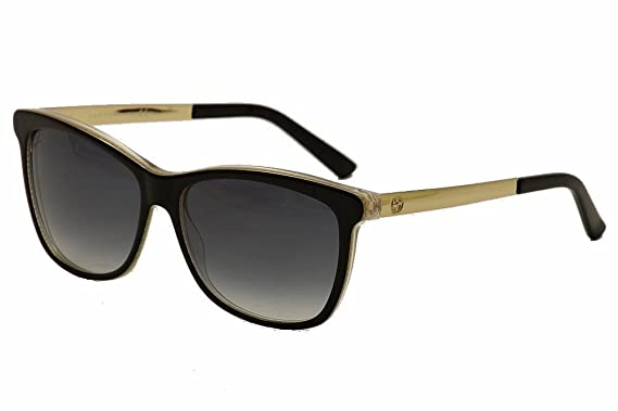 gucci sunglasses. gucci sunglasses - 3675 / frame: black embossed gold lens: gray gradient