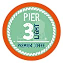 Pier 3 Single-Cup Coffee for Keurig K-Cup Brewers, Light Roast, 40 Count