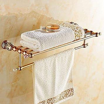Eeayyygch XDB Accesorios de baño Baño-baño Perfora Libre Toallero Toallas Baño de Cobre Completo Toallero Estantería Baño de Oro Rosa Suite Baño Accesorios ...