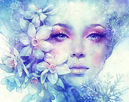 Beautiful Flower Fairy Woman, Cinhent 5D Diamond Painting Embroidery Rhinestone Pasted DIY Cross Stitch Home, Bedroom, Living Room, Wall/Door Art Decor, Gift - 30 × 25CM