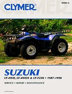 suzuki lt 4wd lt f4wdx lt f250 1987 1998 clymer motorcycle rh amazon com 2001 suzuki quadrunner 160 service manual Suzuki Quadrunner 500 Parts