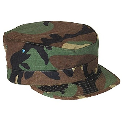 Cotton Ripstop Bdu Patrol Cap (Genuine Issue Woodland Hot Weather BDU RipStop Patrol Cap (7-5/8))