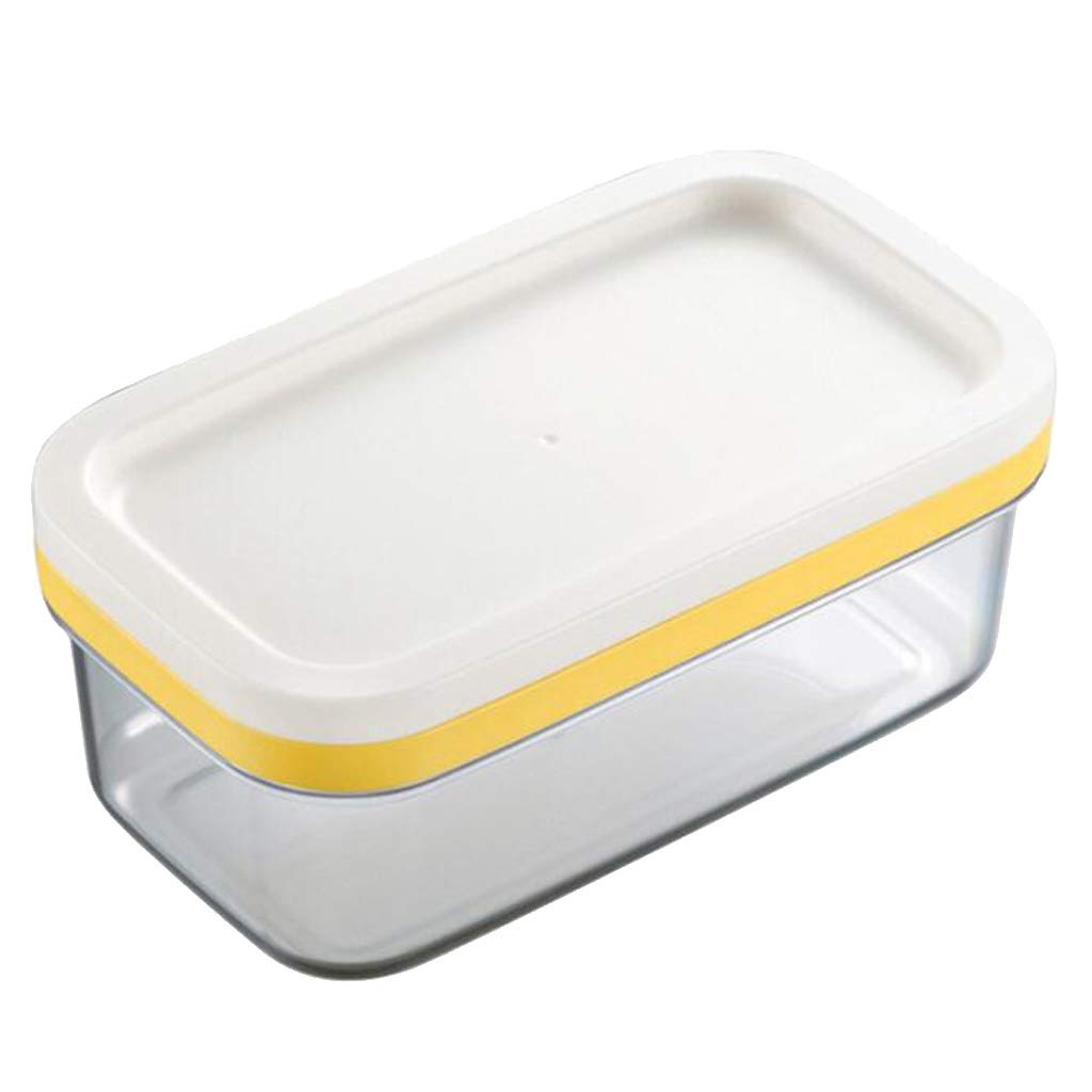Prettyia Plastic Butter Dish With Lid Butter Keeper Container Storage Cutter Slicer Great For Kitchen Storage & Decor