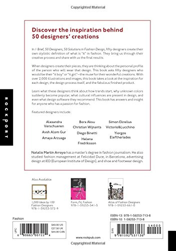 1 Brief 50 Designers 50 Solutions In Fashion Design An Intimate Look At Fashion Designers And The Muses That Inspire Their Style Arroyo Natalio Martin 9781592537136 Amazon Com Books