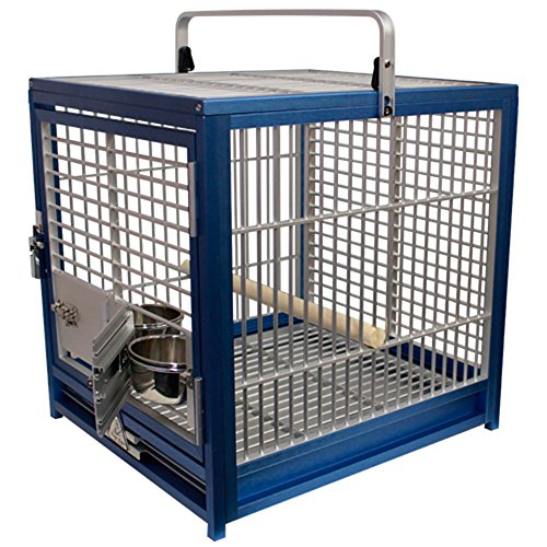 King's Cages ATS 1719 Aluminum Small Travel Carriers CAGE (Blue/Silver.)