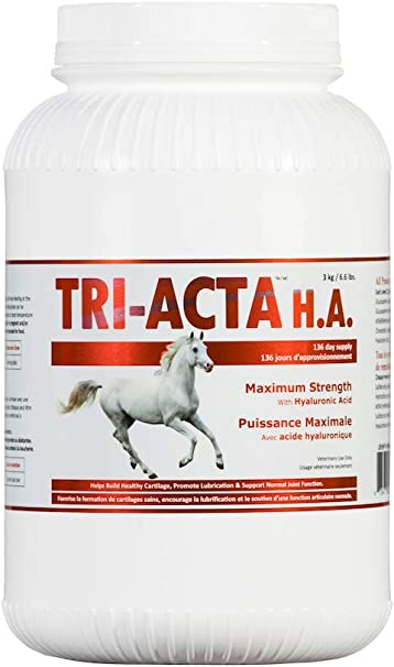 Tri-Acta H.A Maximum Strength with Hyaluronic Acid, Equine (3kg):  Amazon.ca: Pet Supplies
