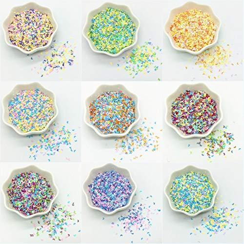 Nail Sequins 6000pcs/20g Moon Charms Nail Sequin Paillette 23mm Mix Loose Sequins For Women Nails Arts Manicure Diy Craft Wedding Decor