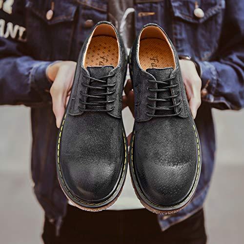 LOVDRAM Stiefel Tooling Männer Herbst Und Winter Mode Stiefel Retro Tooling Stiefel Herren Lederschuhe Mode Niedrige Hilfe Martin Stiefel 47fbfb