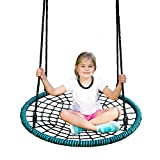 Spider Web Tree Swing Kit – 40 Inch Diameter, 600 lb Weight Capacity, Fully Assembled, Easy to Install