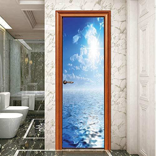 Puerta 3D pegatina - extraíble Adhesivos de puerta ...