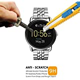 ACUTAS Round Edge Tempered Glass for Fossil Q Wander (Transparent)