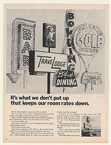 1967-travelodge-motel-sign-dont-put-up-fancy-extras-print-ad-51899