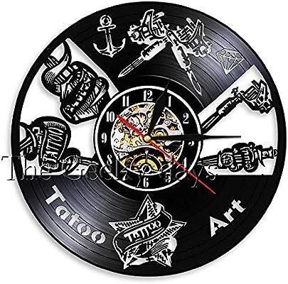 OLILEIO Estudio de Tatuaje Signo de Pared Salón de Tatuaje Disco ...