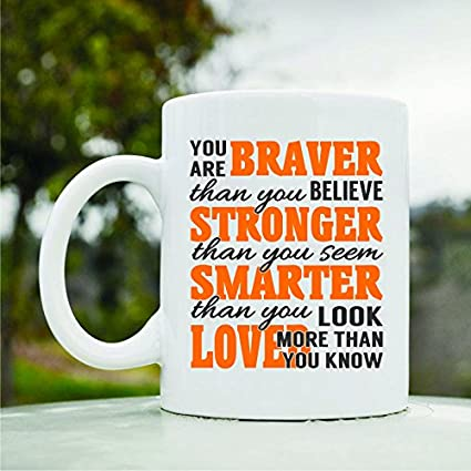 Amazon com: You are braver than you believe stronger than
