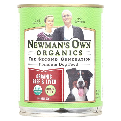 Newman's Own Organics Beef and Liver Grain-Free for Dogs, 12-Ounce Cans (Pack of 12)
