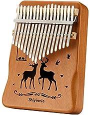 $27 » Kalimba Thumb Piano 17 Keys Musical Instruments, Portable Mahogany Wood Mbira Finger Piano Gifts for Kids and Adults Beginners