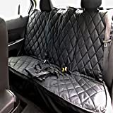 fitted dog seat covers - Plush Paws Original Pet Seat Cover for Compact Small Cars - Black, WaterProof Hammock Convertible & Removable