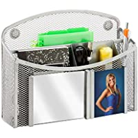 Honey-Can-Do BTS-06572 eXcessory Magnetic Mesh Mirror Organizer, Silver, 8.07L x 2.44W x 6.54H