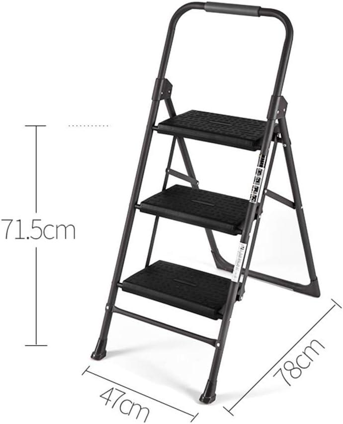 hmjv Taburete con peldaños con soporte de repisa, Escalera plegable para el hogar Taburete grueso sin peldaños de aluminio,# 2: Amazon.es: Bricolaje y herramientas