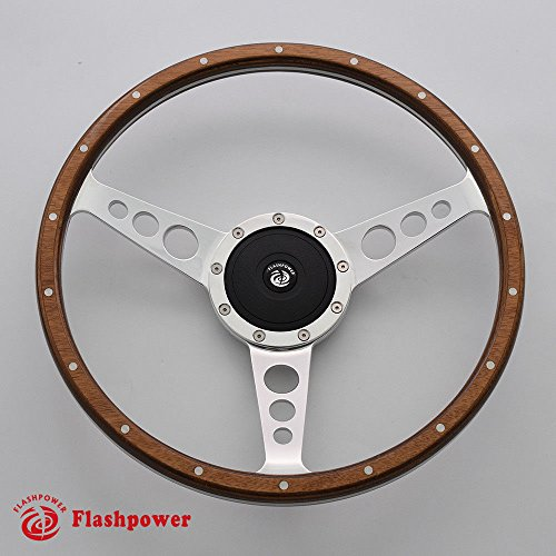 13'' Classic Riveted Laminated wood steering wheel Restoration Mini MG Triumph