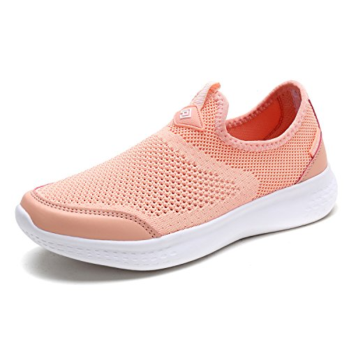 (DREAM PAIRS Women's Shell Pink Athletic Walking Shoes Size 7 M US C0189_W)
