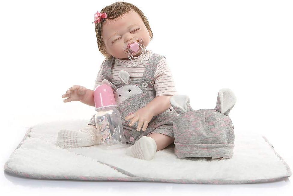 iCradle Muñecas 20Inch 50CM Muñecas para bebés Reborn de Aspecto Real Muñecas de Silicona Suave para bebés Muñecas adorables para niñas gemelas para Mayores de 3 años (Girl)