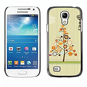 YOYO Slim PC / Aluminium Case Cover Armor Shell Portection //Christmas Holiday Tree 1141 //Samsung Galaxy S4 Mini