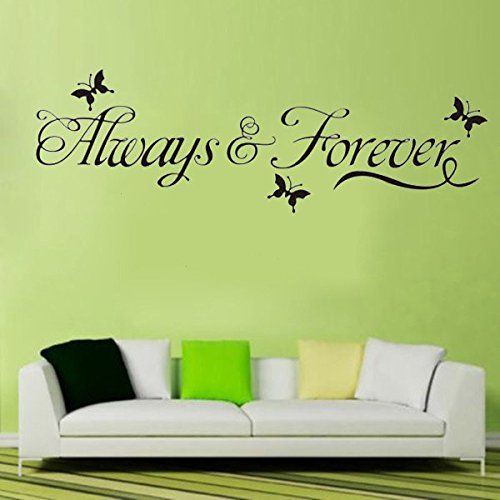 DIY Always & Forever Butterfly Removable Art Vinyl Wall Sticker Mural (Diy X Ray)