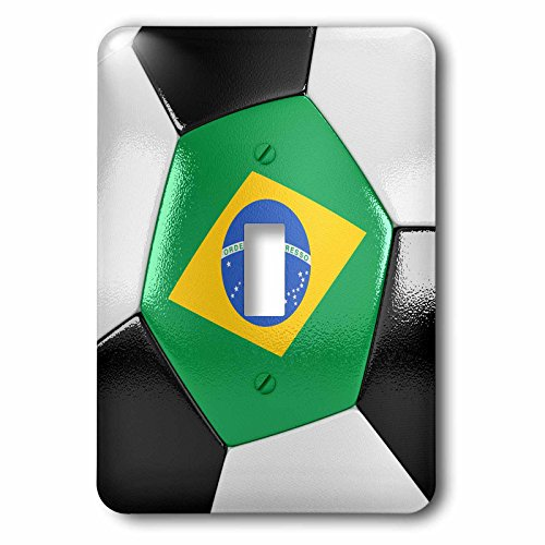 3dRose lsp_181212_1 Brazil Soccer Ball Single Toggle Switch by 3dRose
