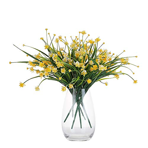 Only Angel Artificial Flowers Bouquet Fake Daffodils Greenery Shrubs Bushes Table Office Decor Home Indoor-6 Pack -