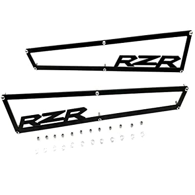 "2014-2020 Polaris RZR XP 1000 XP4 1000 & Turbo Side Vent Covers Includes Stainless Steel Hardware""Anodized Black Aluminium""1 Pair: Automotive"