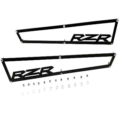"2014-2020 Polaris RZR XP 1000 XP4 1000 & Turbo Side Vent Covers Includes Stainless Steel Hardware""Anodized Black Aluminium""1 Pair: Automotive"
