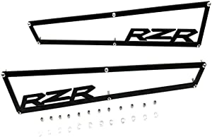 "2014-2018 Polaris RZR XP 1000 XP4 1000 & Turbo Side Vent Covers Includes Stainless Steel Hardware""Anodized Black Aluminium""1 Pair"