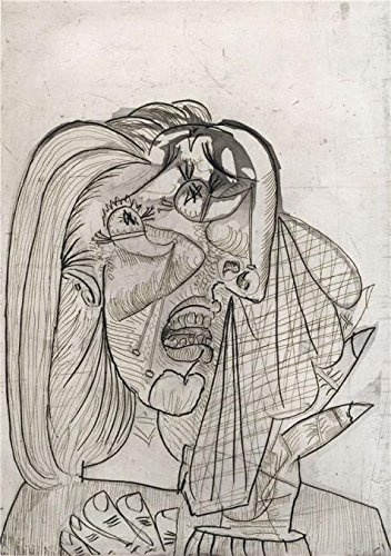 Semi Pro Costume Uk ('Pablo Picasso- Weeping Woman,1937' Oil Painting, 12x17 Inch / 30x43 Cm ,printed On Perfect Effect Canvas ,this High Definition Art Decorative Prints On Canvas Is Perfectly Suitalbe For Garage Decor And Home Gallery Art And Gifts)
