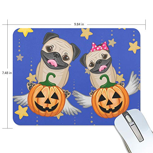 (Basics Gaming Mouse Pad Halloween Dogs with Pumpkins Mouse Mat Gaming Mouse Pad Computer Keyboard Mouse Pad 9.84x7.84x0.2)