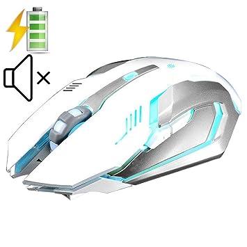 UrChoiceLtd® 2017 Evesky X7 batería 2,4 gHz inalámbrico ratones Silencioso USB ratón óptico ergonómico PC Gaming ratón para ordenador: Amazon.es: ...