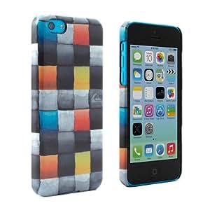 Funda carcasa iPhone 5C oficial de Quiksilver - Diseño Redemption cuadros multicoloridos - De policarbonato resistente brillante - Funda iPhone 5C con garantía de un año