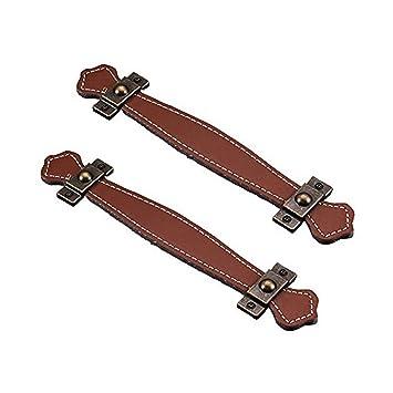 fbshop (TM) Retro Learther armario Shoebox cajón asas tiradores de armario pomos tiradores de