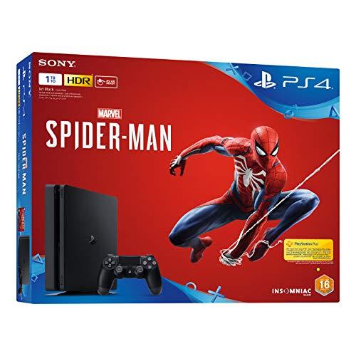 Sony PlayStation 4 1TB Console (Black) with Spider-Man Bundle