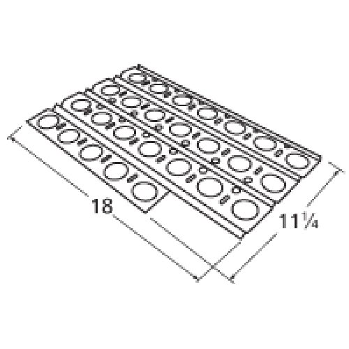 Music City Metals 92561 Stainless Steel Heat Plate Replacement for Gas Grill Model Dynasty DBQ30F by Music City Metals