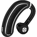 Bluetooth ヘッドセット ワイヤレス ヘッドセット Bluetooth イヤホン 片耳 両耳に兼用 高音質 超大容量バッテリー 軽量型 耳に掛けたままで使える ビジネス 通勤通学 車用 アウトドアに向け (銀)