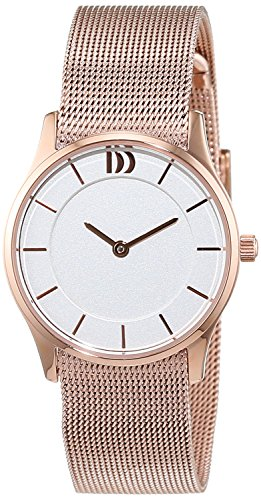 Danish Design IV67Q1063 White Dial Rose Gold Tone Stainless Steel Mesh Women's Watch