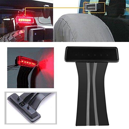 LED 3rd Third Brake Light for 2007-2017 Jeep Wrangler JK Brake Tail Light Lamp High Mount Stop Light Rear Rear Lamp Kit