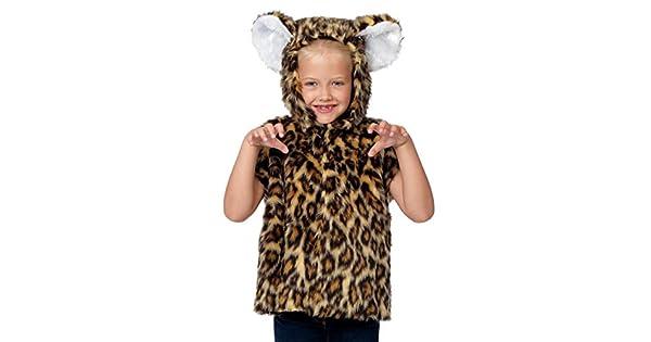 Amazon.com: Disfraz de leopardo para niños. Talla única 3 ...