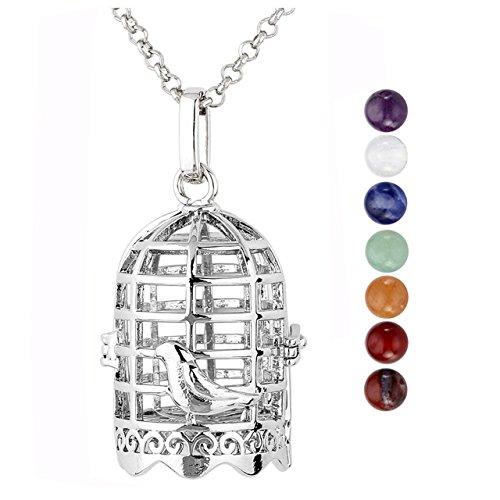 JOVIVI Hollow Birdcage Locket Necklace 28