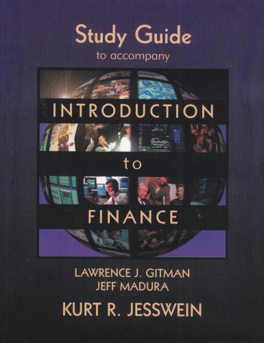 Introduction to Finance, Study Guide