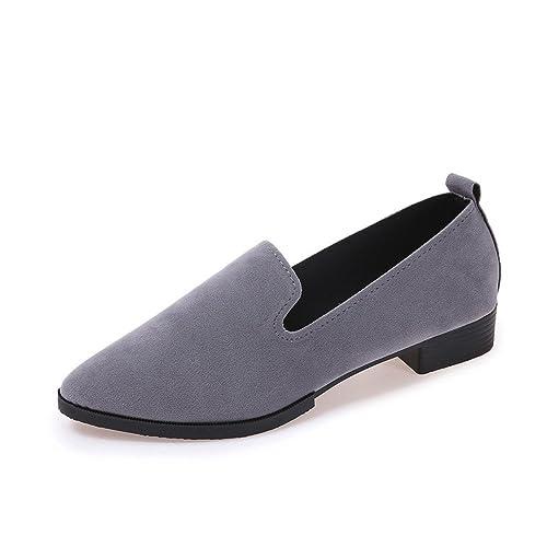 DEELIN Las Señoras De La Moda De Las Mujeres Se Deslizan En Las Sandalias Planas Zapatos Casuales Zapatos Planos Mocasines SóLidos: Amazon.es: Zapatos y ...