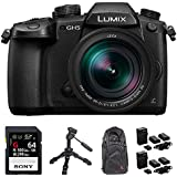 Panasonic LUMIX GH5 20.3MP 4K Mirrorless Digital Camera 12-60mm f2.8-4.0 ASPH Leica Lens (DC-GH5LK) w/ 64GB Bundle Includes, 64GB UHS-II SD Memory Card, Camera Sling Backpack, Tripod + More