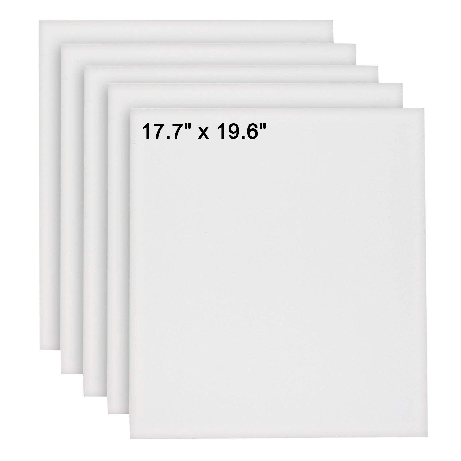 KURTZY 5 pcs Canvas Board - Blank Canvas Set - Artist Canvas Frame - Canvas Panel - Acrylic Painting Board with Pre Stretched Canvas for Artwork, Water Painting board - 17.7