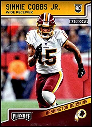 super popular e42e8 3fe2e Amazon.com: 2018 Panini Playoff Kickoff #298 Simmie Cobbs Jr ...